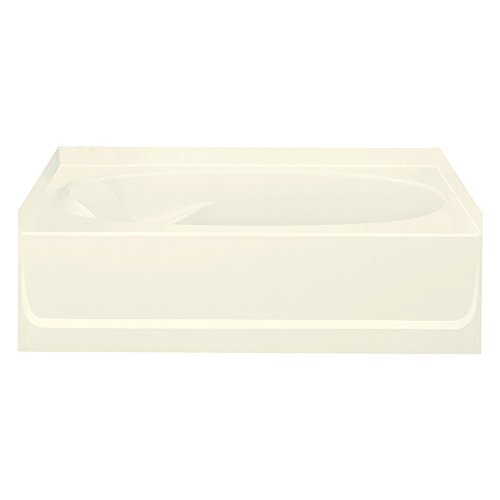 STERLING 71101122-96 Ensemble Bathtub, 60-Inch x 36-Inch x 18.25-Inch, Right-Hand, Biscuit
