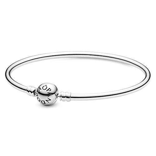 PANDORA - Moments Bangle Charm Bracelet in Sterling Silver, 8.3 IN / 21 CM from PANDORA