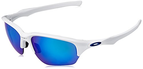 Oakley Men's Flak Beta Non-Polarized Iridium Rectangular Sunglasses, Polished White, 64 ()