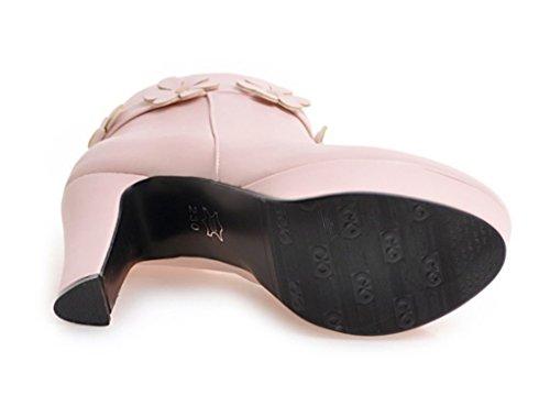 Pink Pink Stivali con Stivali Stivali Stivali Autunno Inverno con Tacco Femminili Tacco e Corti spes Alto Zx74B7