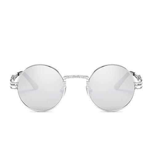 Vintage Pesca De Sol Gafas de Lens De Frame Sol De TLMY Y Color Silver Hombre Pink Mujer Gafas Gafas Clásicos Sol Silver Gold Frame para De Lens wAzqXId