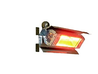 Fire Sense Indoor/Outdoor Wall-Mounted Infrared Heater, Stainless Steel