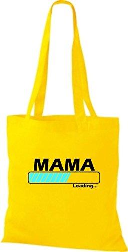 Jute Stoffbeutel Mama Loading viele Farben gelb 2hLhwV