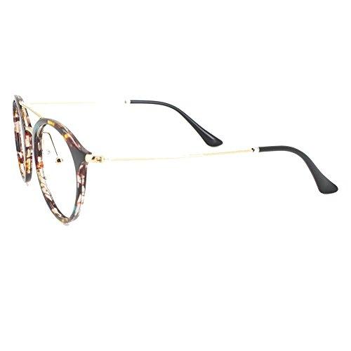 b22fe8740a1 Amazon.com  EyeBuyExpress Bifocal Prescription Mens Womens Rainbow  Tortoiseshell Retro Style Cat Eye Reading Glasses Anti Glare Quality +2.25   Health ...