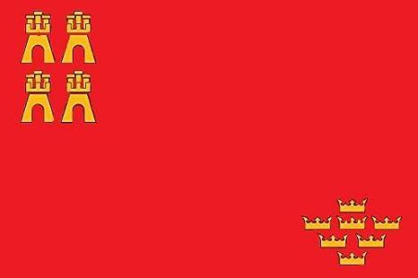 Gran Bandera de Murcia 150 x 90 cm Satén Durabol: Amazon.es: Deportes y aire libre