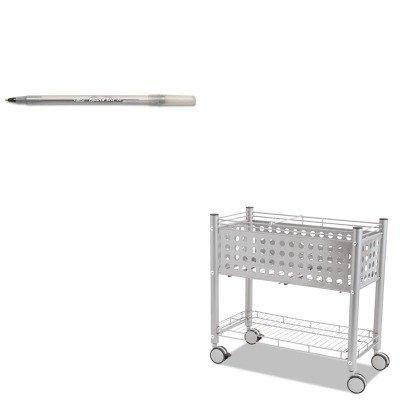 KITBICGSM11BKVRTVF52000 - Value Kit - Vertiflex Smartworx File Cart (VRTVF52000) and BIC Round Stic Ballpoint Stick Pen (BICGSM11BK)