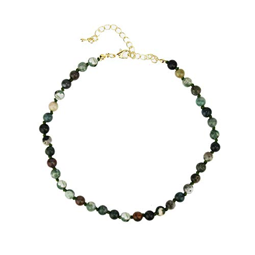 - POMINA Semi Precious Stone Beaded Short Necklaces (Jasper(Fancy))