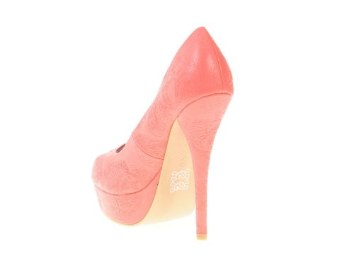 Iron Fist Ladies New Maneater Platform Sexy Heel Coral Shoes la2biMjBY