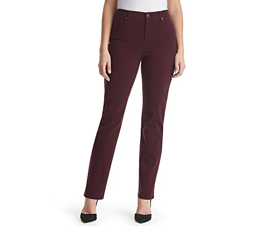 Colored Denim Short - Gloria Vanderbilt Amanda Colored Straight Leg Denim Jeans Sweet Burgundy 18 Short