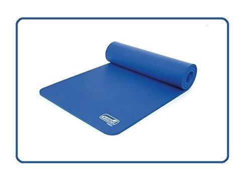 SISSEL Gymnastikmatte Blau - 180 X 60 X 1,5 cm + 1 Paar Elastische Bänder für Gymnastikmatten zum transportieren als 2er SET