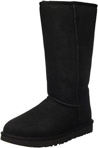 UGG Women's Classic Tall II Winter Boot, Black, 9 B US