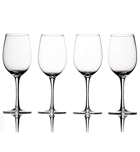 GiftTree Gifts Ravenscroft Crystal Invisibles Stemware | 14-Ounce Clear Lead-Free Crystal Glasses, Set of 4| Lovely Gift For Any Wine Enthusiast ()