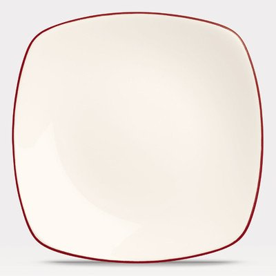Noritake Colorwave Raspberry 8-1/4-Inch Square Salad/Dessert Plate, 8-1/2-Inch