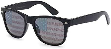 5Zero1 Retro Classic American Patriot Flag USA Independent Celebration Wayfarer Aviaotr Sunglasses
