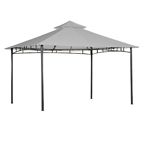 Garden Winds Replacement Canopy for 10x12 Roof Style House Gazebo - Riplock 350 - Slate Gray