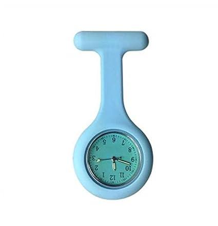 vxcbndtjd - Reloj de Bolsillo para Enfermera (Silicona, Brilla en la Oscuridad),