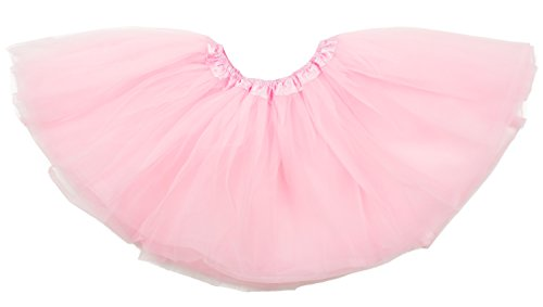 (Dancina Big Girls Tutu Tweens 5k 10k Color Dash Fun Run Fancy Cosplay Costume 8-13 Years Pink)