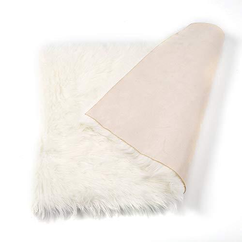 KNOSSOS Soft Rectangle Faux Sheepskin rug Sofa Carpet Living Room Bedroom Floor Mat