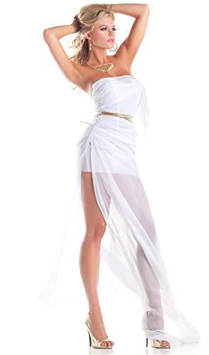 Goddess Costume Lovely Strapless Dress Toga Gold Rope -