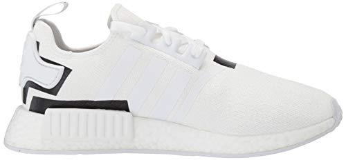 adidas Originals Men's NMD_R1 Running Shoe White/Black, 4 M US by adidas Originals (Image #6)