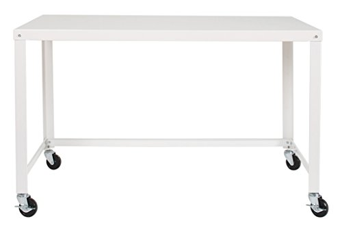 Space Solutions Mobile RTA Desk, White