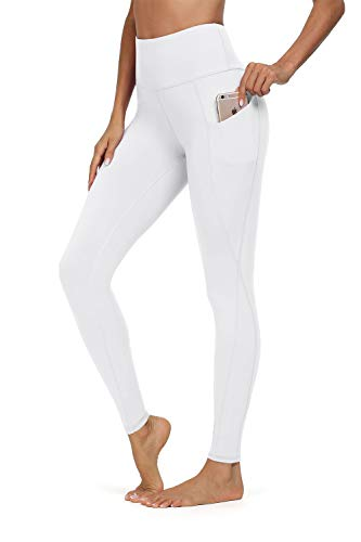 Jouica High Waist Yoga Pants with Pockets, Tummy Control, Workout Pants for Women 4 Way Stretch Yoga Leggings with Pockets
