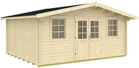 Gartenhaus HOBY BIDASOA 28 Blockhaus 500x400cm 28mm Blockhaus Holzhaus