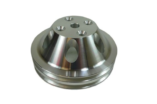 - Racer Performance Chevy Small Block Machined Aluminum Water Pump Pulley - 2 Groove (Long)