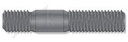 DIN 938 Plain M16-2.0 X 35mm Class 5.8 Steel Double-Ended Stud with Plain Center Metric 10 pcs Screw-in End 1.0 X Diameter