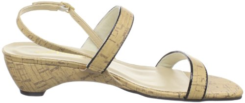 Annie Skor Kvinna Chablis Slingback Sandal Kork / Black Patent