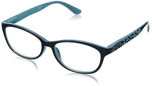 Foster Grant Women's Cassandra PolarizedRoundReaders , Teal - Frames Teal Glasses