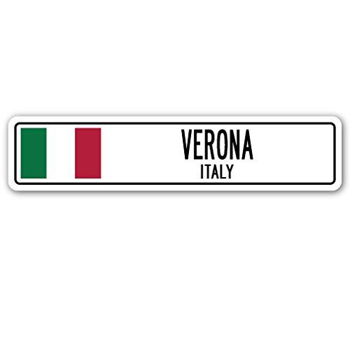 Verona, Italy Street Sign Italian Flag City Country Road Wall Gift