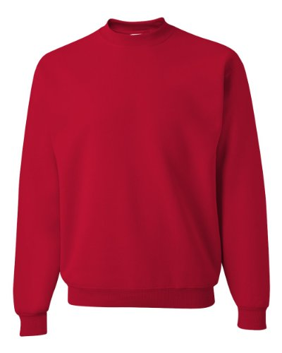 Jerzees Mens Super Sweats Crew Neck Sweatshirt  True Red  X Large