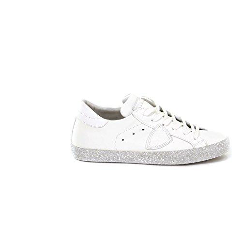 VL08 PARIS Graphite Paris MOD PHILIPPE Sneakers Bianco Donna Glitter A18ECGLD MODEL Blanc Veau Yx7wp