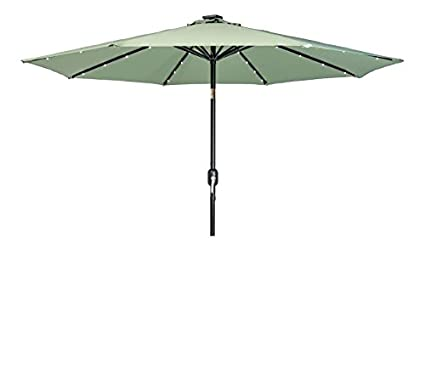 Lighted Umbrella For Patio Simple Amazon Trademark Innovations Deluxe Solar Powered LED Lighted