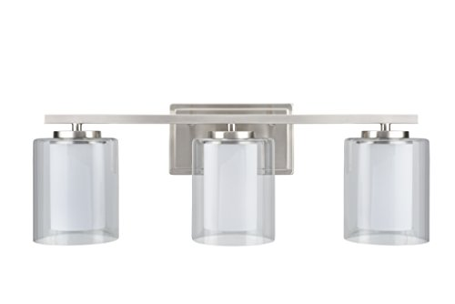 Aspen Creative 62103, Three-Light Metal Bathroom Vanity Wall Light Fixture, 23