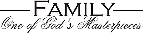 Our Life Family One of God's Masterpieces,Vinyl Wall Decal Religious Wall Décor 30
