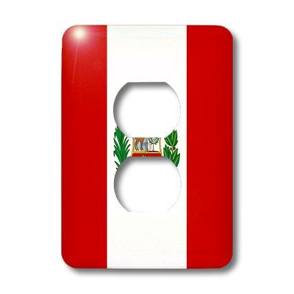 3dRose LLC lsp_28278_6 - Carcasa para 2 enchufes, diseño de bandera de Perú