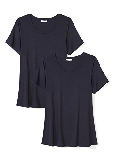 Daily Ritual Women's Plus Size Jersey Short-Sleeve Scoop Neck Swing T-Shirt,