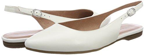 29407 100 white Tamaris Back Sandals Sling White Women''s AxwwWnSqB