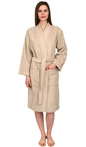 - TowelSelections Women's Robe Turkish Cotton Terry Kimono Bathrobe Small/Medium Sandshell