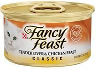 Fancy Feast Classic Tender Liver Chicken Feast Cat Food, 3 oz, 12 Cans