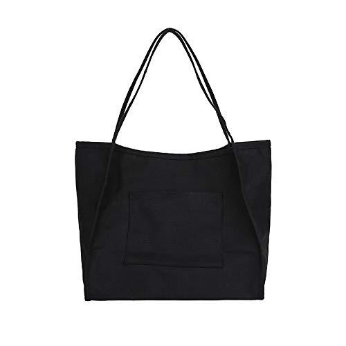 Tracolla Shopping Grande Black Capacità Ynnb Tote Protezione Tela In white Ambientale Retrò Bag A Borsa Wild Semplice Womens 6qqEBF