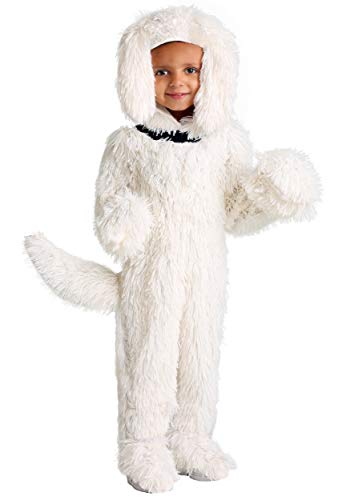 Toddler Shaggy Sheep Dog Costume 4T White