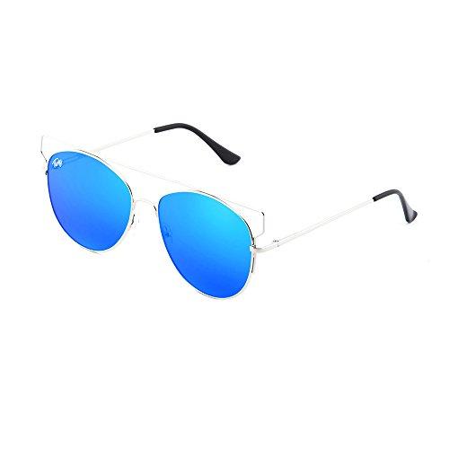 Azul mujer sol Gafas TZARA espejo degradadas de TWIG Plata U74n81