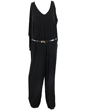 Calvin Klein Plus Belted Jumpsuit