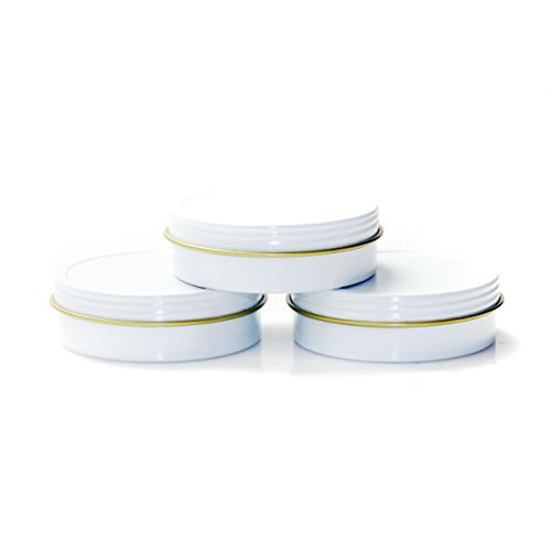 Mimi Pack 2 oz Tins 24 Pack of Shallow Screw Top Round Tin Containers with Lids For Cosmetics, Party Favors and Gifts - Gift Tin Round