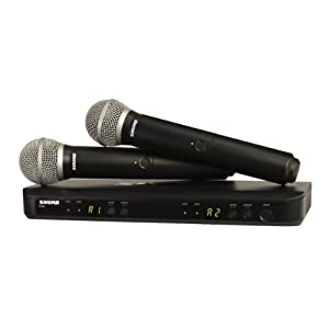 Shure BLX288/PG58 Dual Channel Wireless Micro...