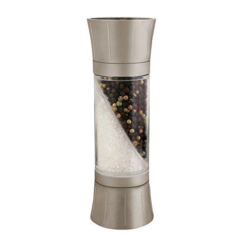 Satin Mill Salt - KitchenArt 80310 Dual End Salt and Pepper Grinder, Satin