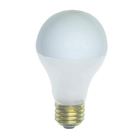 Frosted Light Bulbs >> Bulbrite 60a19f Sb Inside Frost Half Chrome 60w A Shape Bulb